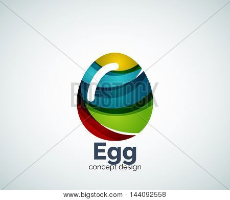 Vector egg logo template, abstract business icon