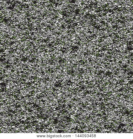 Seamless background of white and green noise on black background. Vector illustration