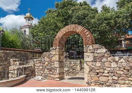 Remains of from Ancient Sozopol and the church of St. George, Bulgaria