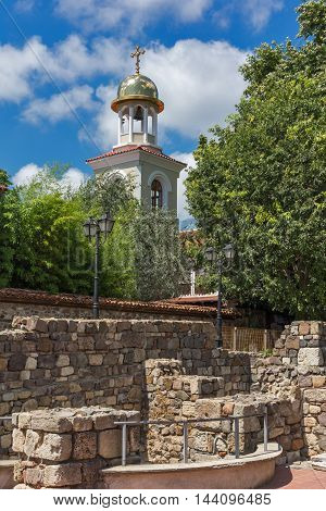 Ruins of Ancient Sozopol and the church of St. George, Bulgaria