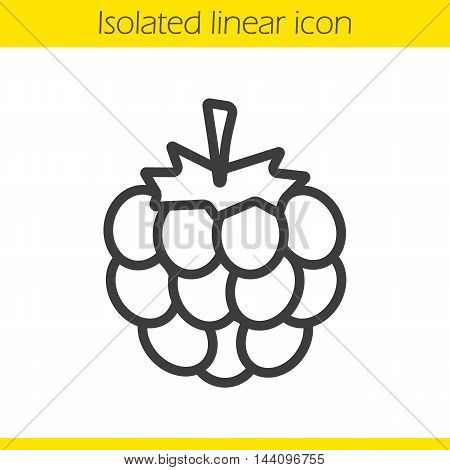 Raspberry linear icon. Thin line illustration. Blackberry contour symbol. Vector isolated outline drawing