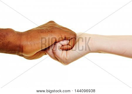Two hands holding close as sign for partnership and connection