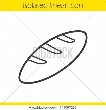 Bread linear icon. Thin line illustration. Loaf of bread contour symbol. Vector isolated outline drawing
