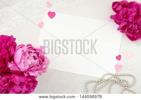 Pretty Styled Desktop Stationery Flat lay Mockup photograph great for lifestyle bloggers or to announce a celebration wedding or event