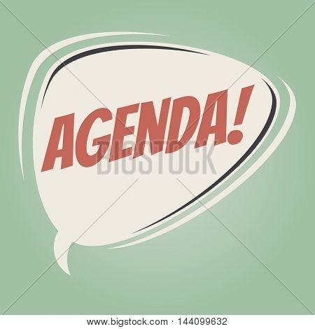 agenda retro speech balloon