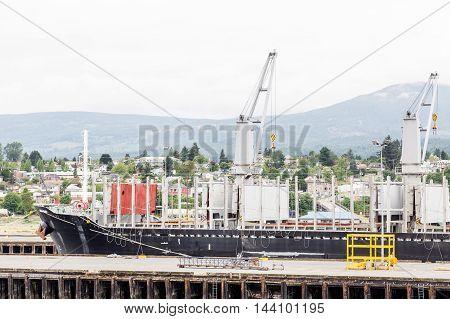 Heavy industry at a ship yard in Nanaimo