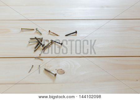Nails, Screws Lie On The Floor