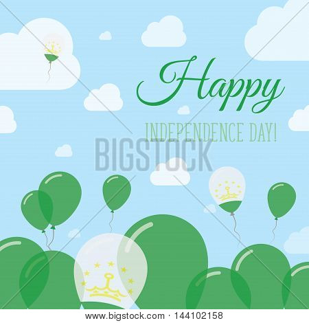Tajikistan Independence Day Flat Patriotic Design. Tadzhik Flag Balloons. Happy National Day Vector