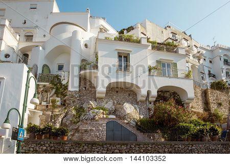 Traditional italian architecture on Capri Island Italy