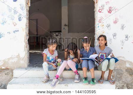 Refugee Camp Of Lagadikia ,greece