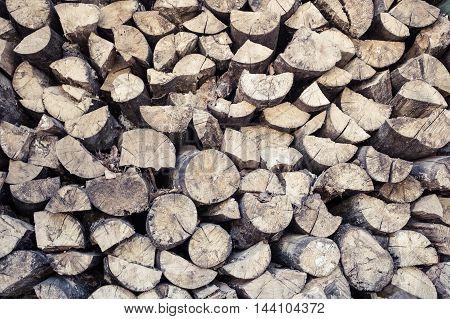 Heap Of Beech Timber Pattern Background
