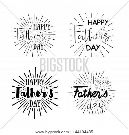 Happy Father's Day Retro Calligraphic Vector Design Element. Happy Father's Day Vintage Typographica