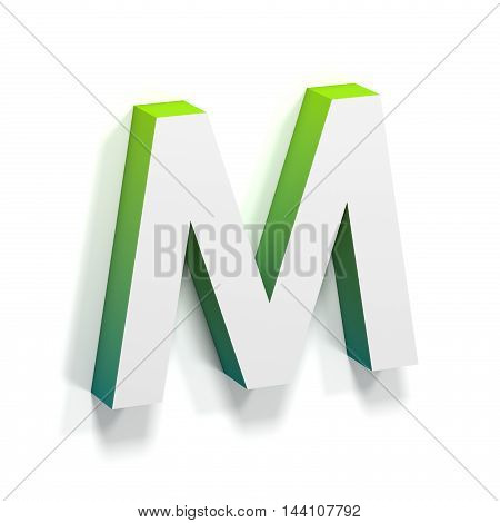 Green Gradient And Soft Shadow Letter M