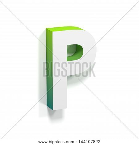 Green Gradient And Soft Shadow Letter P