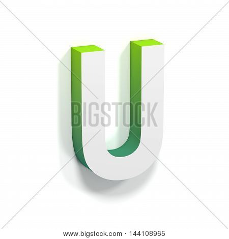 Green Gradient And Soft Shadow Letter U