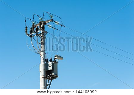 Electrical Transformer To Electrical Pylon