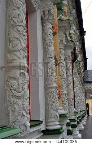 Trinity Sergius Lavra (monastery). Popular touristic landmark UNESCO World Heritage Site. Color photo.