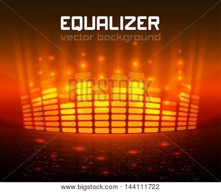 Digital Equalizer. Vector illustration. eps 10 abstract