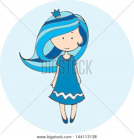 Hand Drawn Vector Princess