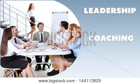 Leadership coaching concept.