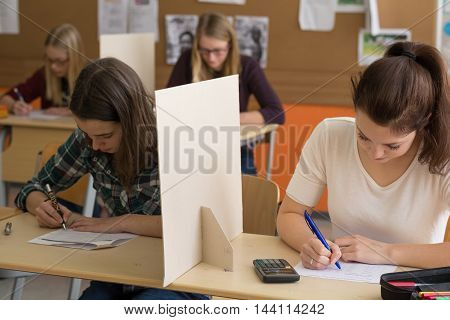 make teens in the school fund a test - in image four girls