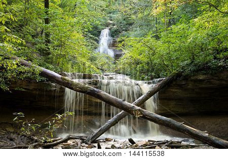 Tioga Falls is 130 feet tall and one of the tallest in Kentucky.