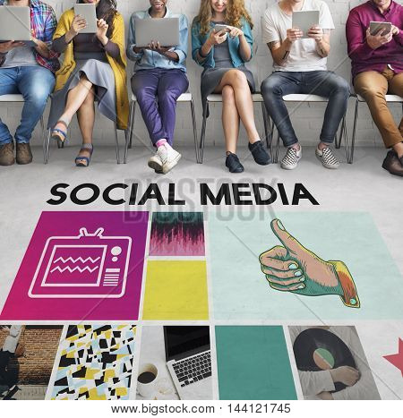 Social Media Community Connection Information Concept