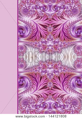 Design of beautiful pink and purple spiral ornamental notebook cover