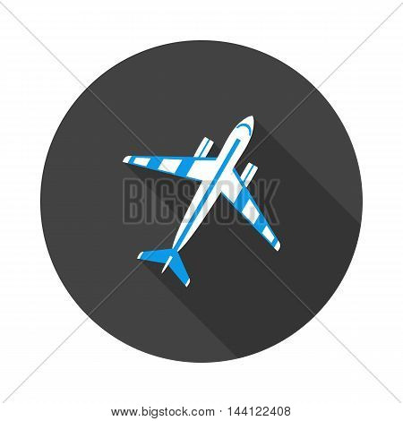 flat icon aircraft in vector format eps10