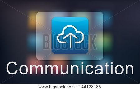 Cloud Computing Data Sharing Storage Graphic Concept
