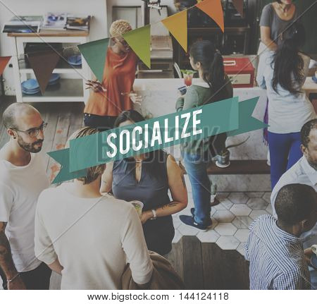 Socialize Connection Fellowship Network Unity Concept