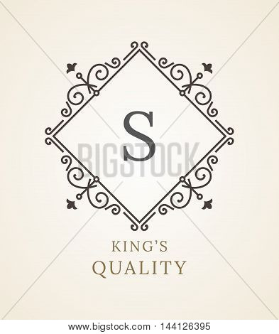 Vintage Ornament Greeting Card Vector Template. Vintage Background, Vintage Frame, Vintage Ornament, Ornaments Vector, Ornamental Frame. Retro Luxury Invitation, Royal Certificate. Flourishes frame