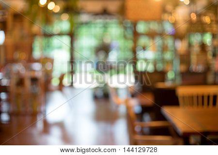 Blur Coffee Shop Green Leaf Boken
