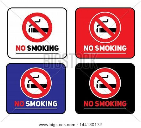 Labels set No smoking stickers - Vector design EPS 10