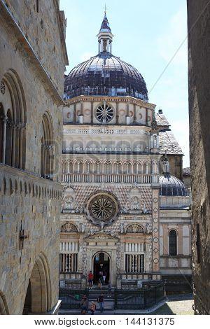 Church Basilica Santa Maria Maggiore In Bergamo, Citta Alta, Italy