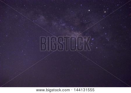 milkyway on clear night sky before sunlight