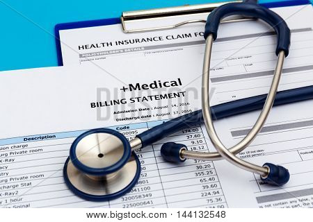 Medical Cost Concept With Stethoscope