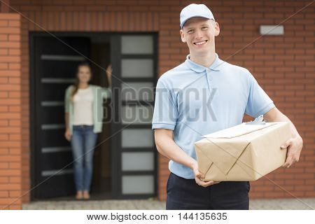 Delivery Man Always At His Post