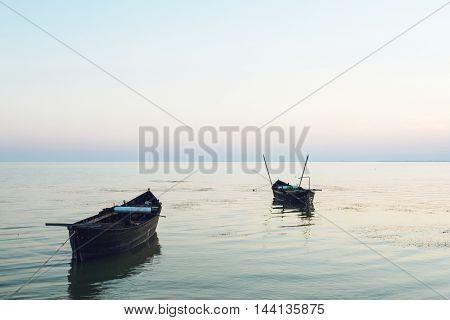 Lake holiday fishing old boats summer travel hobby
