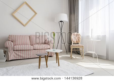 Simple Living Room With Beautiful Details
