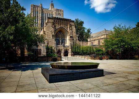 Yale University. College Hall. Ivy League
