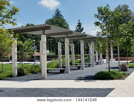 Coppin State University. Outdoors park branches. College Architecture
