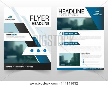 Blue black business Brochure Leaflet Flyer annual report template design book cover layout design abstract business presentation template a4 size design