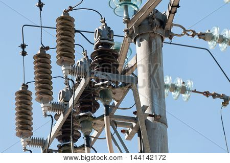 Electric Pole With Insulator