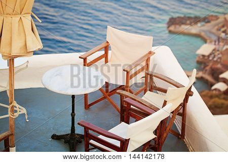 Greece Santorini Island Caldera View and Sea