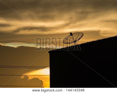 Small satellite dish to receive signals from satellite dish large Satellite is part of Satellite communication systems for mobile phone. Satellite TV Satellite Internet And a satellite dish for other