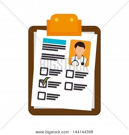medical report diagnosis check mark doctor photo vector illustration