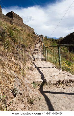 Steep Steps In Pisac