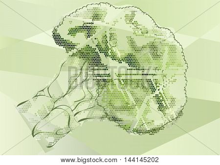 broccoli abstract illustration. Healthy ecological green food