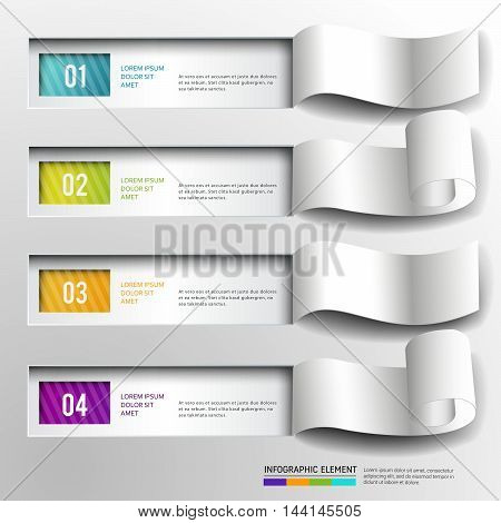 Abstract 3D Paper infographic design and realistic.can used for banner,leaflet,booklet,brochure and presentation infographic.